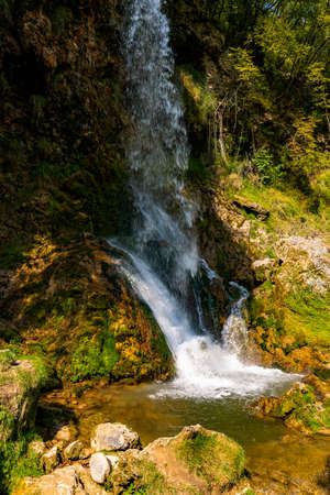View at Gostilje waterfall at Zlatibor mountain in Serbia