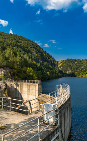 View at dam on the Zaovine lake in the Serbia