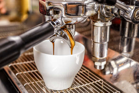 manejar: caf? expreso Foto de archivo