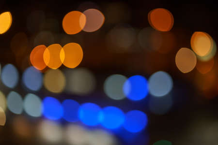 Abstract blurred bulbs lights background