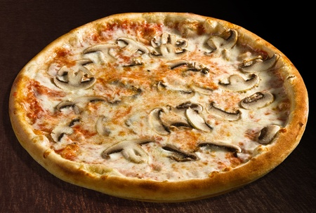 Pizza  funghi with extra cheese and mushrooms - isolated Standard-Bild