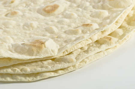Folded pita bread  photo