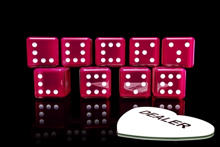 Rolling winning dice in life casino Stock Photo - 17422811