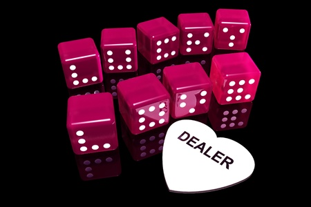 Rolling winning dice in life casino Stock Photo - 17422809