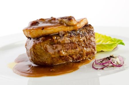 Beef foie gras photo