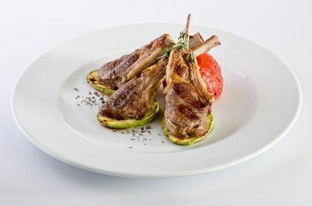 rack of lamb: Lamb chops