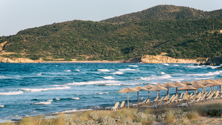 mediteranean: Beach resort at the Mediteranean Sea Stock Photo
