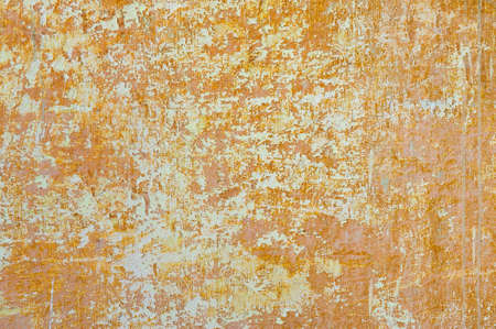 Old scratched orange wall  photo