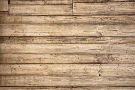 old wooden background with horizontal boards Banco de Imagens