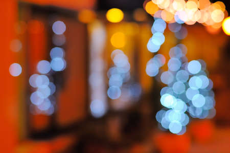 Background with lens bokeh effect by night  photo