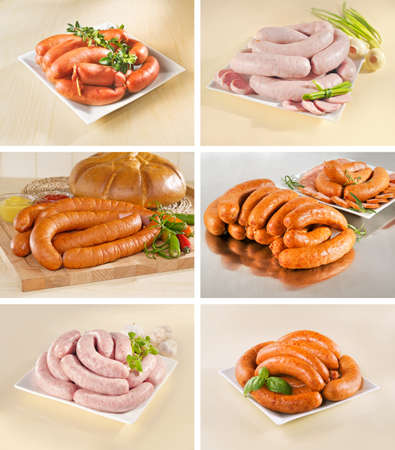 Different types of sausages