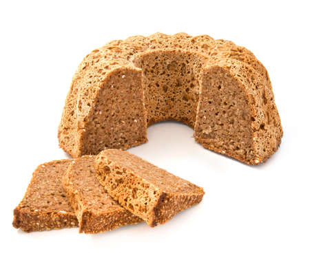 Full grain bread isolated on white background Stock Photo - 14088249