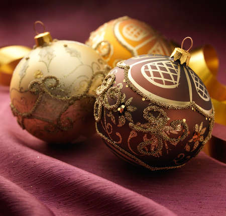 Arrangement with beautiful christmas balls Stock Photo - 16591135