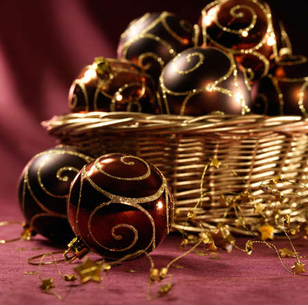 Arrangement with beautiful christmas balls Stock Photo - 16591149