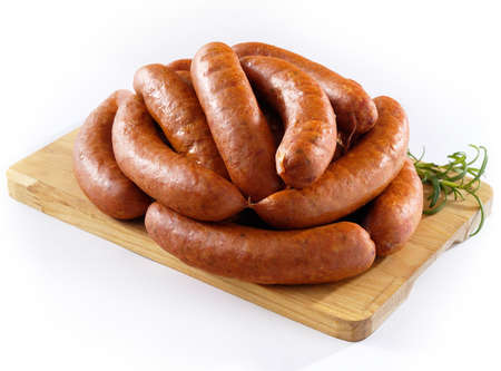 Sausage on kitchen board Banco de Imagens - 20058502