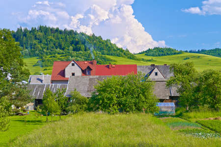 Country houses in the Pieniny mountains near the Poland and Slovakia border