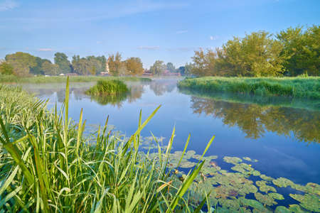 Beautiful landscape with The Narew River