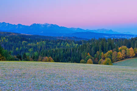 The Western Tatra Mountains  View from Spiš Magura  Poland