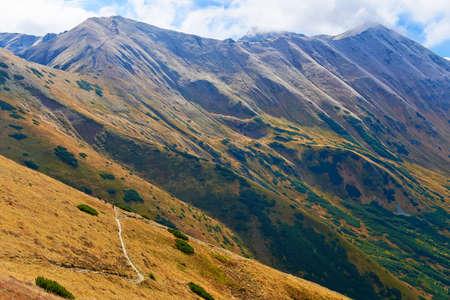 Trail in The Tatra Mountains  View from Trzydniowianski Wierch - 1758 m