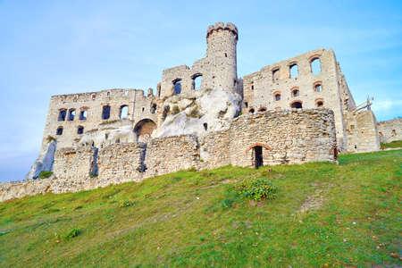 Old medieval castle  Ogrodzieniec in Poland