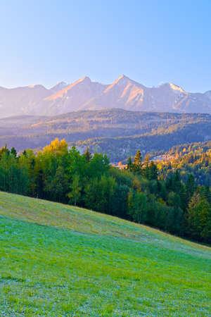 Dawn over The Tatras  The Carpathian Mountains  View From Spis Magura  Poland