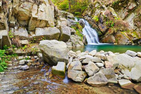 The Zaskalnik waterfall in the Pieniny mountains, Poland