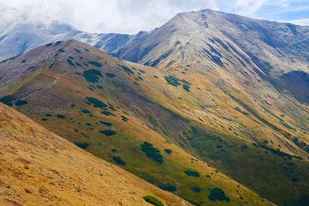 Tatras, Poland. Nature reserve. Czubik (1846 m) and Konczysty Wierch (2002 m) view from Trzydniowianski Wierch (1758 m)