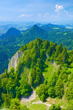 Spring landscape in The Pieniny Mountains, Poland  View from The Three Crowns massif  National park  Banco de Imagens