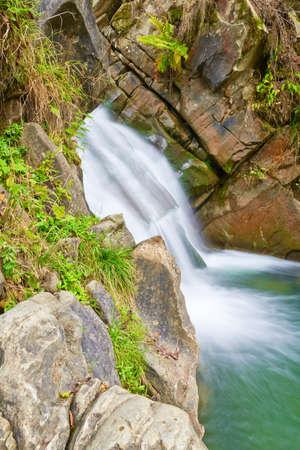 The Zaskalnik Waterfall in the Pieniny mountains range  Amazing nature reserve  The Sopotnicki Stream  Banco de Imagens