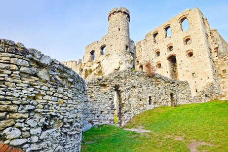 Ruins of old medieval The Ogrodzieniec Castle in Poland  photo