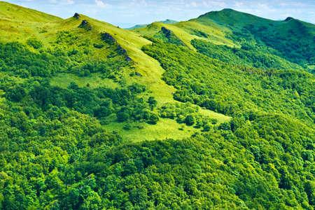 Mountains scenery background  Green landscape  Bieszczady National Park  Carpathians, Poland