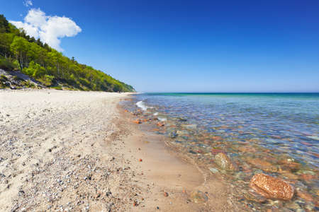 The Baltic Sea, mediterranean, Poland  Summer sand forest blue sky