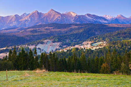 High Tatra Mountains Carpathians Landscape Poland Nature Reserve Scenery