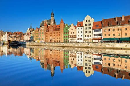 baltic sea: Gdansk Old Town Harbor Poland Stock Photo