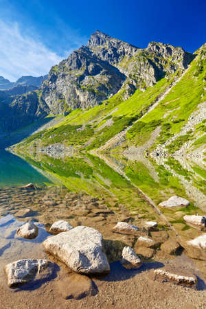 Beautiful nature landscape  Gasienica Black Pond High Tatra Mountains. Carpathians, Poland Banco de Imagens - 44272186