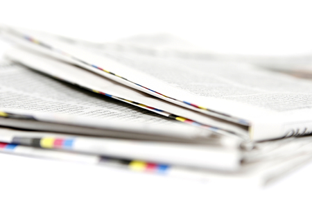 medium group of objects: Newspapers stack Stock Photo