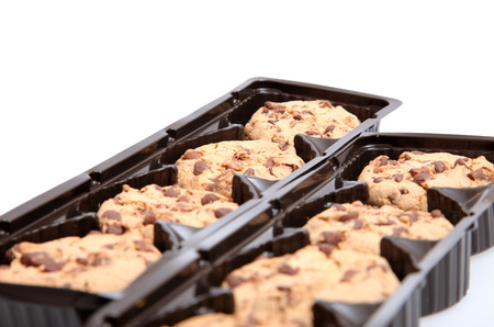 medium group of objects: Chocolate chip cookies