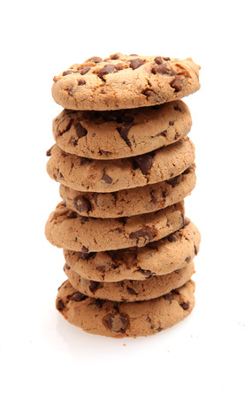 small group of objects: Chocolate chip cookie stack