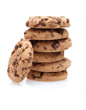 galleta de chocolate: El chocolate pila de fichas de galletas