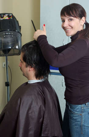 hairdresser make clips to the men Stock Photo - 4259557
