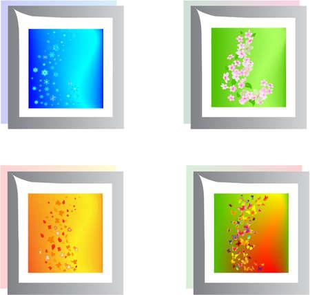 slush: square season buttons Illustration