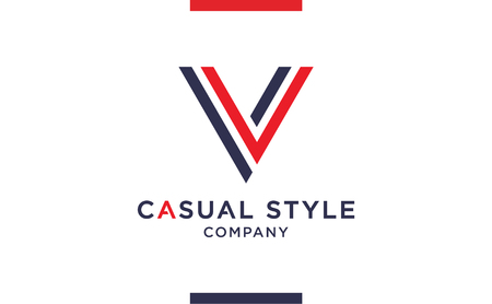 Casual and elegant Vector V Logo for corporate identities. Minimal Logotype design for premium company branding.