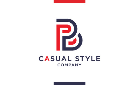 Casual and elegant Vector B Logo for corporate identities. Minimal Logotype design for premium company branding.