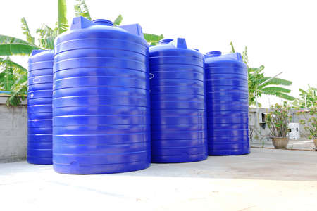 Water tank supply Stock Photo