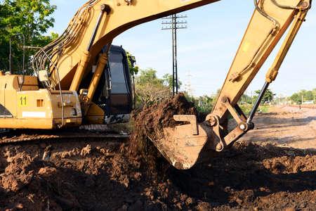 Backhoe Excavator at construction site