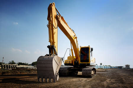 Backhoe Excavator at construction site
