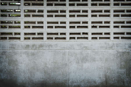 vents: Cement brick vents wall for background and texture Stock Photo