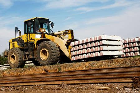 Big Forklift at construction site