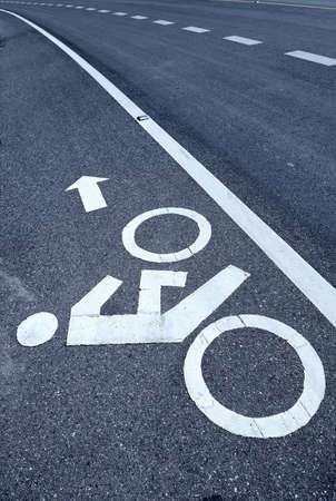 Sign of a bike or bicycle lane photo