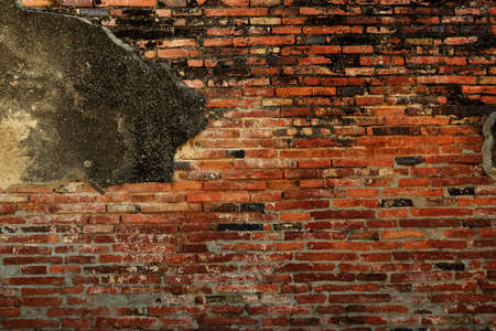 Red brick wall background and texture photo